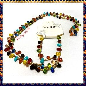NWT Mudd Long Colorful Necklace